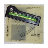 Winter Engineering Crystal card w/ bubble inclinometer