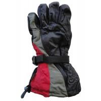 Glove Waveline Unisex, Black/G/Inf, XS