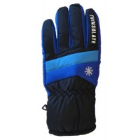 Glove Snowflake Ladies, Blk/Sap/Sky, M