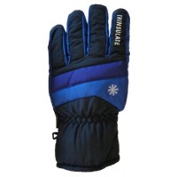 Glove Snowflake Childs, Nvy/Roy/Pur, L