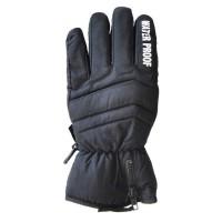 Glove Zipp Cuff Mens, Black, M