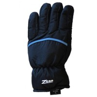 Glove ZA Mens, Blk/Blu pip, S