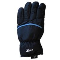 Glove ZA Mens, Blk/Blu pip, L