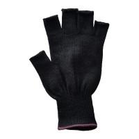 Glove Polypropylene Half Fing., Black, L (PUR band)