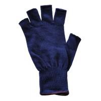 Glove Polypropylene Half Fing., Navy, M (BLK band)