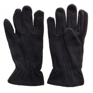 Glove Fleece Micro Childs, Black, L