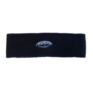 Fleece Headband Circular, Black, One