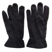 Glove Fleece Micro Childs, Black, XS