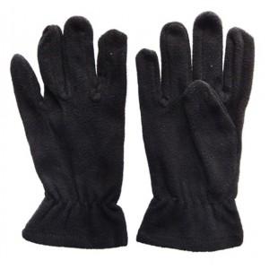 Glove Fleece Micro Childs, Black, XS