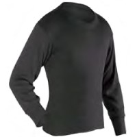 PP Thermals - Adult Long Crew, Black, XS