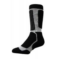 Sock Hiker Long, Black/Silver, 10-12 - DNT