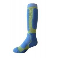 Sock Hiker Long, Blue / Lime, 7-9 - DNT