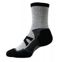 Sock Hiker Short, Black/Silver, 10-12 - DNT