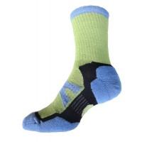 Sock Hiker Short, Blue / Lime, 7-9