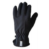 Gloves Fleece Softshell, Black, M