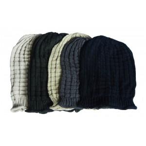 Hat Knit - Style DM01-01, Dark Grey, One