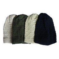 Hat Knit - Style DM01-02, Black, One