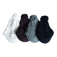 Hat Knit - Style DM01-10, Brown, One
