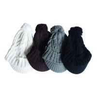 Hat Knit - Style DM01-10, Black, One