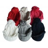Hat Knit - Style DM01-11, Black, One