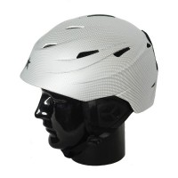 Helmet H01 Adult In Moulded, Silver Carbo, L