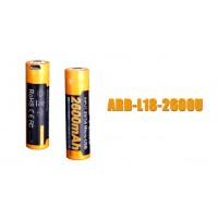 Fenix - Battery 18650 2600mAh USB Rechargeable