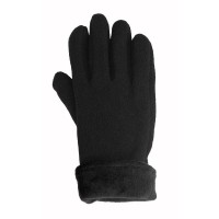 Glove Fleece Micro Unisex, Black, L