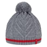 BRBL Beanie Dolomiti - grey/red - size L