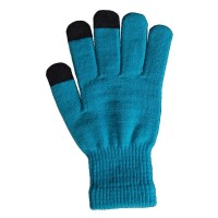 Glove Knit Touch, Blue, M-L