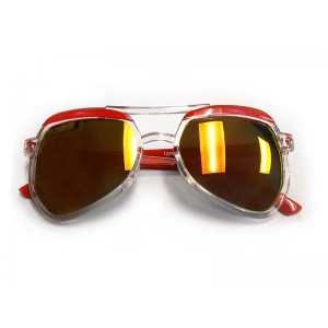 RD Sunglasses - SA19-1, Clear/Red, Kids