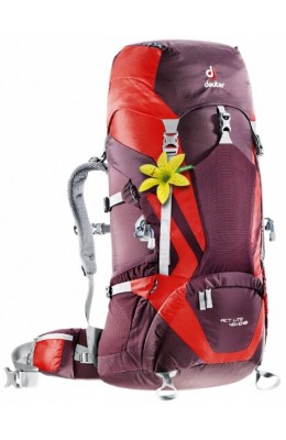 Deuter ACT Lite 45+10SL, aubergine-fire
