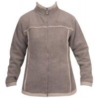 Moa Jacket Wool Look Fleece WM, Latte., XXL