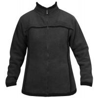 Moa Jacket Wool Look Fleece WM, Charcoal., L