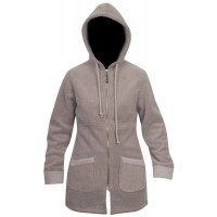 Moa Coat Wool Look Fleece WM, Latte., XS