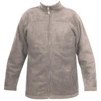 Moa Jacket Wool Look Fleece, Latte., 4XL