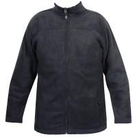 Moa Jacket Wool Look Fleece, Charcoal., XXL