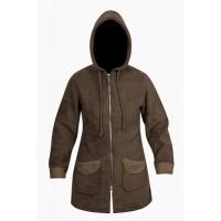 Moa Coat Wool Look Fleece WM, Chocolate, XS