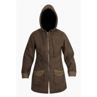 Moa Coat Wool Look Fleece WM, Chocolate, XL