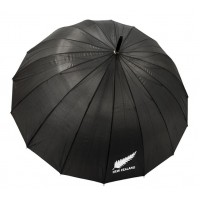 Kiwistuff Large Umbrella black logo