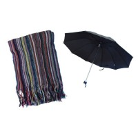 Umbrella small & knitted Scarf combo