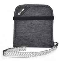 Pacsafe RFIDsafe V100 bifold wallet, granite melange