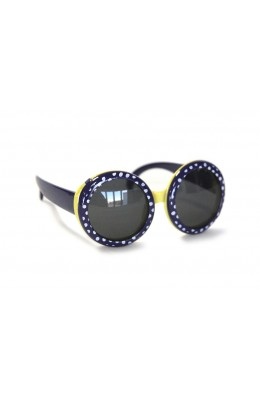 RD Sunglasses - Kids Style DT1-1, Navy/Yellow