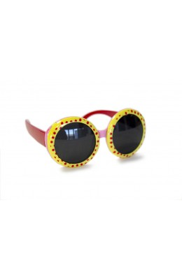 RD Sunglasses - Kids Style DT1-1, Yellow/Pink