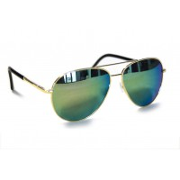 RD Sunglasses - Style DT3-4, Gold/Green Lens