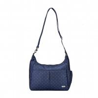 Pacsafe Daysafe Crossbody, Navy Polka Dots