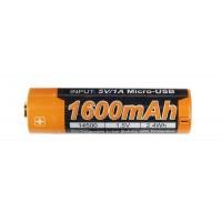 Fenix - Battery 14500 1600mAh USB Rechargeable 1.5V (AA)