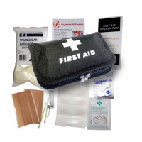 First Aid Kit - Wallet (with black bag)