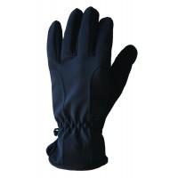 Gloves Fleece Softshell, Black, XXL