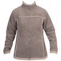 Moa Jacket Wool Look Fleece WM, Latte., XS