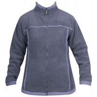 Moa Jacket Wool Look Fleece WM, Purple., M